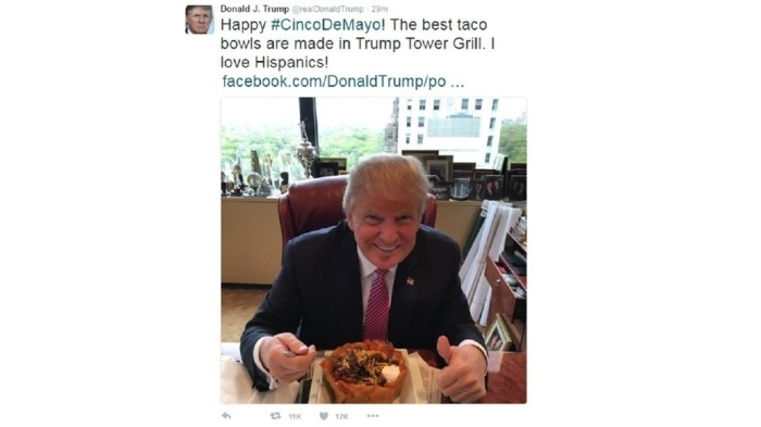 Donald Trump taco bowl tweet